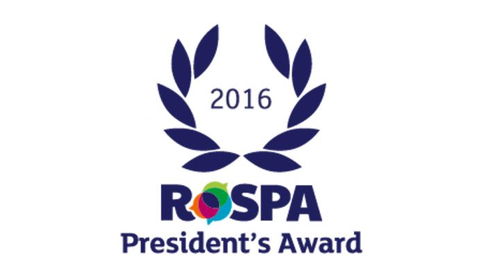 12th Consecutive RoSPA Gold (Presidents) Award